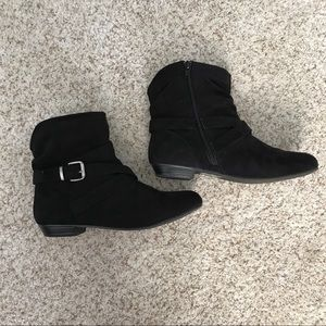 Express Faux Suede Black Booties (7)